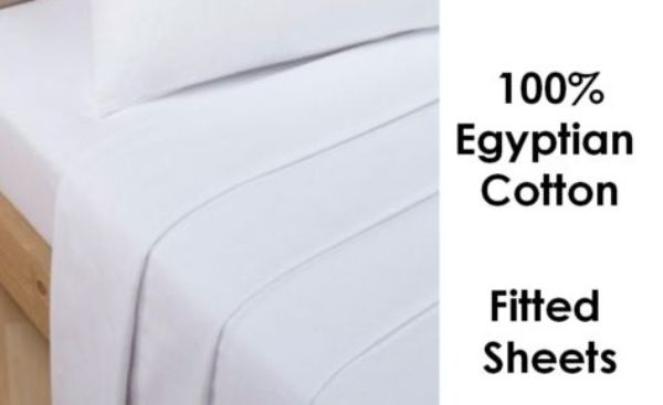 """Extra Deep 16/"""" Percale TC180 Egyptian Cotton Fitted Sheets 50//50/% PolyCotton"""