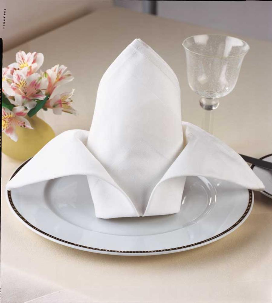 """100% Cotton Plain White Napkins 46x46cm(18"""" Sq) B GRADE"""